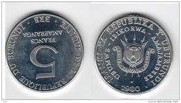 Burundi 5 Francs 1980 UNC Km#20 - Burundi