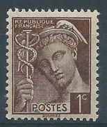 FRANCE - YT N°404 - 1 C. Sépia - Type Mercure - Neuf** - TTB Etat - 1938-42 Mercure