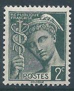 FRANCE - YT N°405 - 2 C. Vert Foncé - Type Mercure - Neuf** - TTB Etat - 1938-42 Mercure
