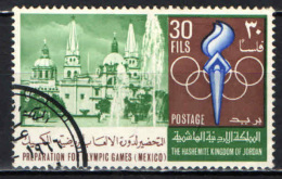 GIORDANIA - 1967 - OLIMPIADI DEL MESSICO DEL 1968 - CATTEDRALE DI GAUDALAJARA - USATO - Giordania