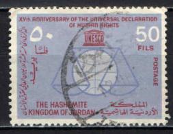 GIORDANIA - 1963 - 15° ANNIVERSARIO DELLA DICHIARAZIONE UNIVERSALE DEI DIRITTI DELL'UOMO - USATO - Giordania