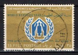 GIORDANIA - 1960 - ANNO INTERNAZIONALE DEL RIFUGIATO - USATO - Giordania