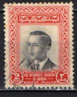GIORDANIA - 1954 - RE HUSSEIN - SENZA FILIGRANA - USATO - Giordania