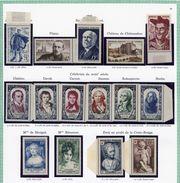 France Année 1950 Neuve ** Complète : N° 863 Au 877 - Cote 111 Euros - Superbe Qualité - France