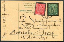 1935 Uprated Mourning Stationery Postcard - Graz, Austria. Militar - 1931-1941 Kingdom Of Yugoslavia