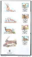 OUZBEKISTAN - 15.8.1995 - FDC - WWF CHEVRE MARKHOR -  Yv 61AA - 61AD - Lot 10444 - Uzbekistan
