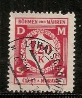 BOHEME ET MORAVIE      N°  19  OBLITERE - Bohême & Moravie
