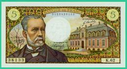 5 Francs Pasteur - France - N°K.62 / 38133 - N° 0153438133 - B.7-12-1967.B - Neuf - 5 F 1966-1970 ''Pasteur''