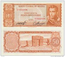 Bolivia 50 Bolivianos 1962  Pick 162 UNC - Bolivie