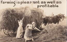 RPPC REAL PHOTO POSTCARD FARMING INDIANA - Cultivation