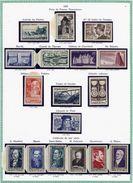 France Année 1952 Neuve ** Complète : N° 919 Au 939 - Cote 116 Euros - Superbe Qualité - Frankrijk