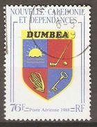 NOUVELLE CALEDONIE   -    Aéro   -   1988 .  Y&T N° 257 Oblitéré.   Armoiries De Dumbéa - Airmail