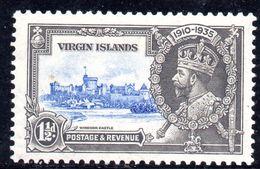 XP115 - VIRGIN ISLANDS 1935 , Gibbons N. 104k Nuovo * Varietà Kite And Vertical Log - British Virgin Islands