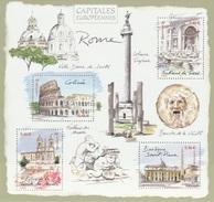 France, Rome, Capital Of Italy, 2002, MNH VF  Souvenir Sheet Of 4 - France
