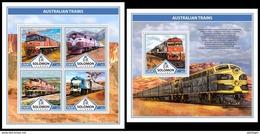 SOLOMON Isl. 2017 - Australian Trains. M/S + S/S - Salomoninseln (Salomonen 1978-...)