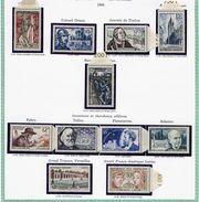 France Année 1956 Neuve ** Complète : N° 1050 Au 1090 - Cote 167 Euros - Superbe Qualité - France