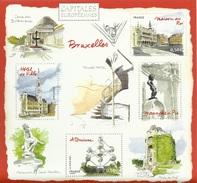 France, City Of Brussels, Capital Of Belgium, 2007, MNH VF  Souvenir Sheet Of 4 - France