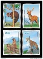 Kyrgyzstan 2017 Mih. 905/08 Fauna. Red Book Of Kyrgyzstan. Lynx. Marmot. Deer. Marten MNH ** - Kyrgyzstan