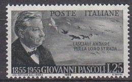 1955 -  GIOVANNI PASCOLI - Nuovo - 1946-60: Nuovi