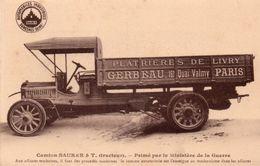 CAMION SAURER-PLATRIERES DE LIVRY-93-LIVRY- - Transporter & LKW