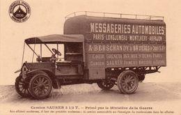 CAMION SAURER-MESSAGERIES AUTOMOBILES-78- - Transporter & LKW