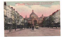 2000  ANTWERPEN - ANVERS,  ZIJGEVEL DER MIDDENSTATIE   ~  1915   FELDPOST  STRASSENBAHN - België