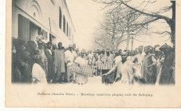 GAMBIE ))  BATHURST   (gambia River) BANJUL   Mondiago Musicians Playing With The Bellafong - Gambia