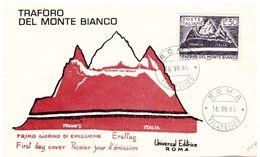Fdc Universal Editrice: TRAFORO MONTE BIANCO (1965); No Viaggiata; AF_Roma - 6. 1946-.. Republic