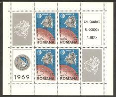 Romania 1969 Mi# Block 74 ** MNH - 2nd Landing On The Moon Apollo 12 / Space - 1948-.... Republics
