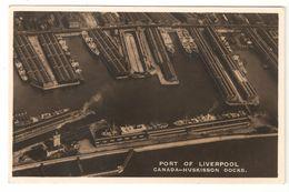 Liverpool - Port Of Liverpool - Canada-Huskisson Docks - Photo Card - Haven / Hafen / Puerto - Boat / Bateau / Boot - Liverpool