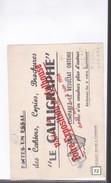 1 Buvard   :   Papier  Le Calligraphe ( Foire Exposition Mulhouse  1956 ) - Stationeries (flat Articles)