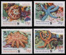 B.I.O.T. 2001 - Faune Marine, étoiles De Mer, Wwf - 4 Val Neufs // Mnh - Territoire Britannique De L'Océan Indien