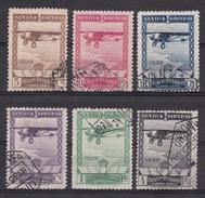 ESPAÑA 1929 - Exposiciones Sevilla Y Barcelona Correo Aéreo Serie Usada Edifil Nº 448/453 - 1889-1931 Royaume: Alphonse XIII