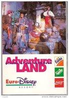 Lot De  Cinq Cartes Publicité - Serie EuroDisney Resort - Advertising