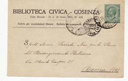9660 COSENZA BIBLIOTECA CIVICA - 1900-44 Vittorio Emanuele III