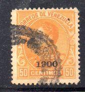XP3623 - VENEZUELA 1900, 50 Cent Yvert N. 75  Usato - Venezuela