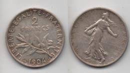 + 2 FRANCS 1904 + - Frankreich