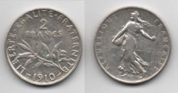 + 2 FRANCS 1910 + - Frankreich
