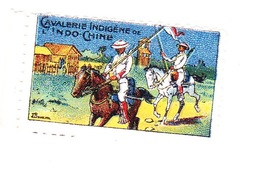 Vignette Militaire Delandre - Cavalerie Indigène De L'Indochine - Vignettes Militaires