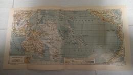 7283.   Ozeanien - Bibliographisches Institut In Leipzig - Oceani Istituto Bibliografico Di Lipsia - Map - Cartes