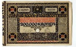 """Autriche Austria Österreich """" XXXII STAATSLOTTERIE """" 1917 Lottery Ticket 4 Kronen - Austria"""