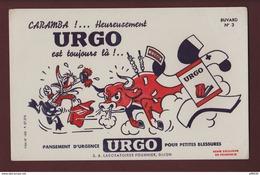 BUVARD - URGO - N°3 -  Pancement D'urgence - Laboratoires  Fournier à DIJON. 21  - 2 Scannes. - Produits Pharmaceutiques