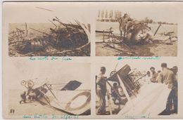 Photo Originale :accidents D'avion 1921 : Restes Du Feu, Accident Mortel, Ma Buche - Aviation