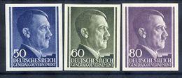 GENERAL GOVERNMENT 1943 Hitler Definitive 50, 60, 80 Gr. Imperforate MNH / **.  Michel 110-12 U - Occupation 1938-45