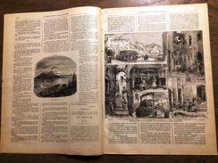REVUE 1887 6 MARS OMNIBUS ILLUSTRE CANNES NICE MENTON MOULIN A OLIVES - Magazines Et Périodiques