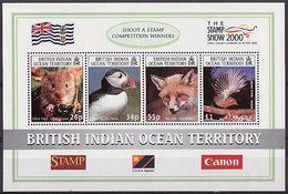 B.I.O.T. 2000 - Faune De L'océan Indien, Stamps Show 2000 - BF4 Val Neufs // Mnh - Territoire Britannique De L'Océan Indien