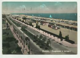 RICCIONE - LUNGOMARE E SPIAGGIA  VIAGGIATA   FG - Rimini