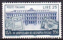 1956 - Risparmio Postale - Nuovo - 1946-60: Nuovi