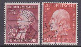 Germany BRD 158, 175 Helfer Der Menscheit Fliedner Senckenberg Used Gestempelt - [7] République Fédérale