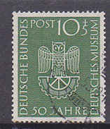Germany BRD 163 10+5 Pf Deutsches Nuseum München Eule Zahnrad Used Gestempelt - Gebruikt